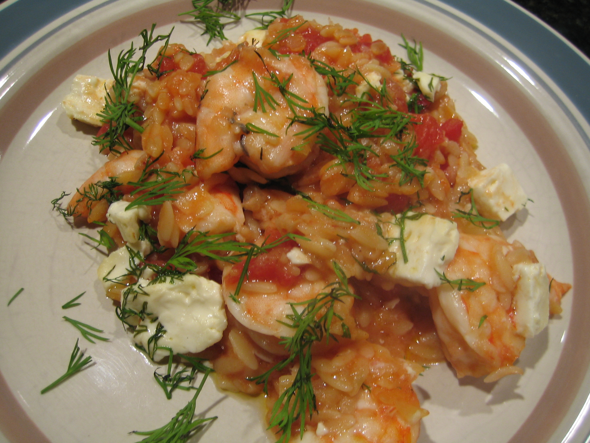 Skillet Orzo With Shrimp And Feta | I Sing In The Kitchen