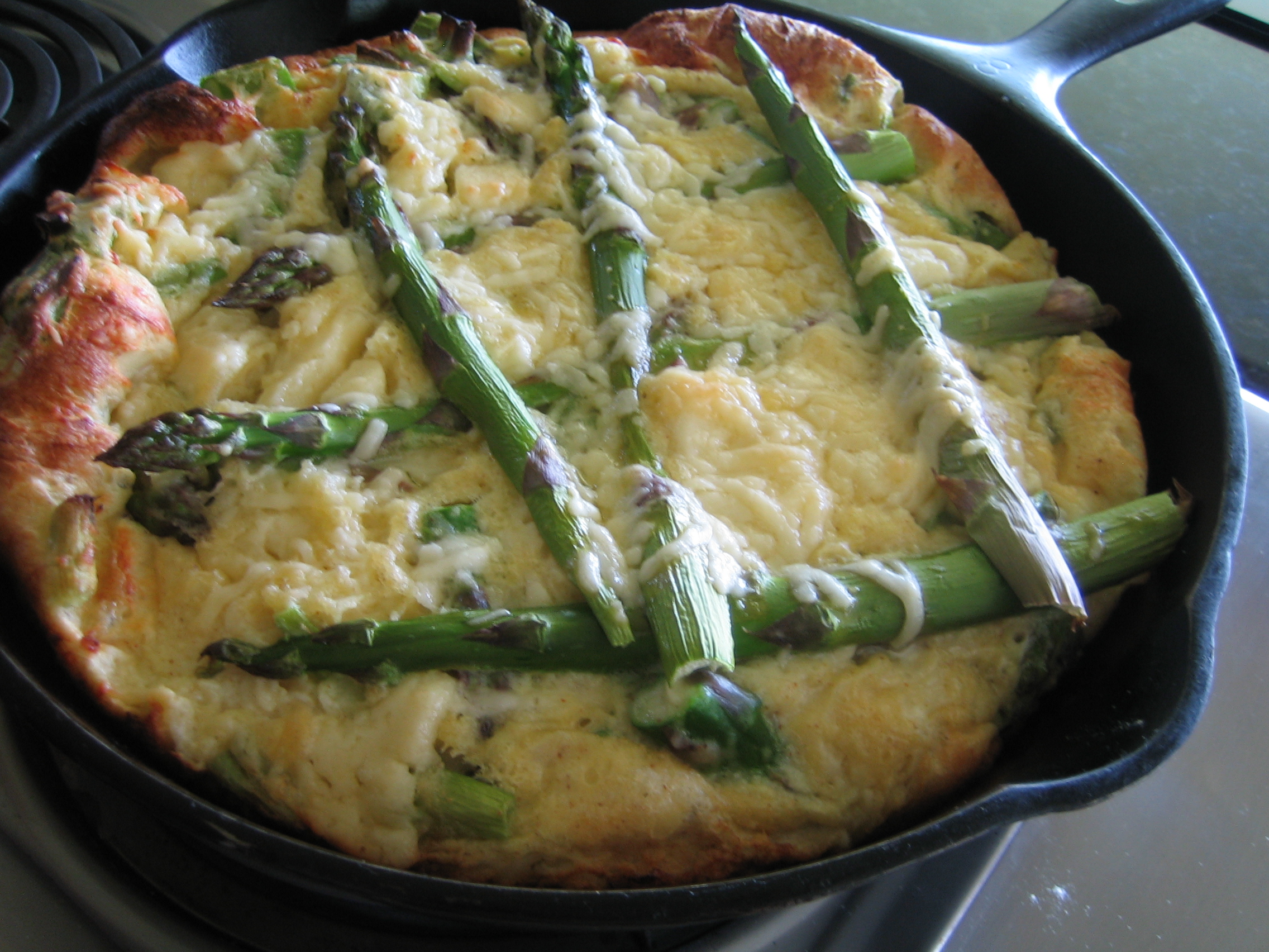 Asparagus And Ramp Skillet Soufflé | I Sing In The Kitchen