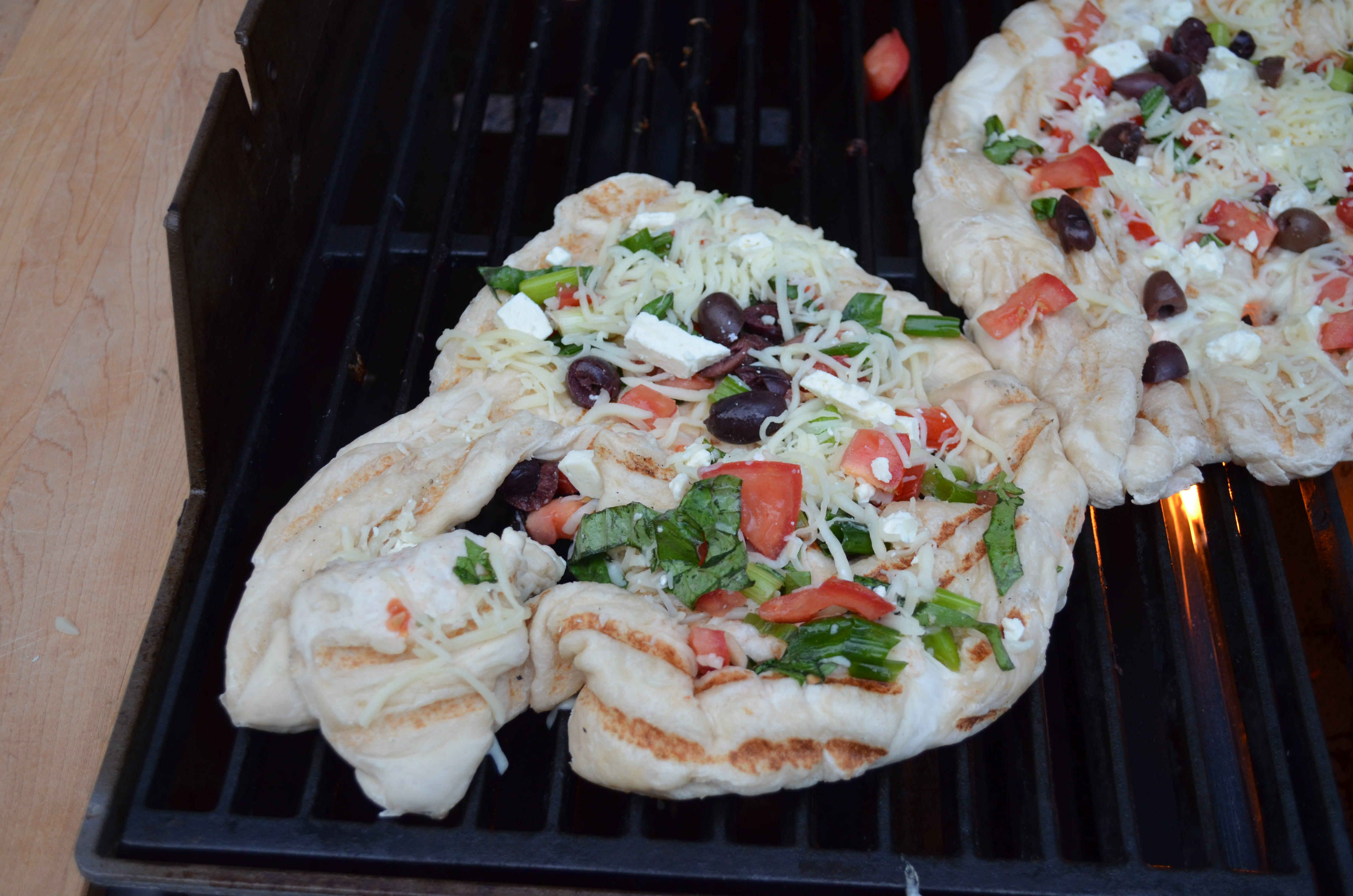 Grilled Greek Pizza With A Serving Of A Hot Band From ...