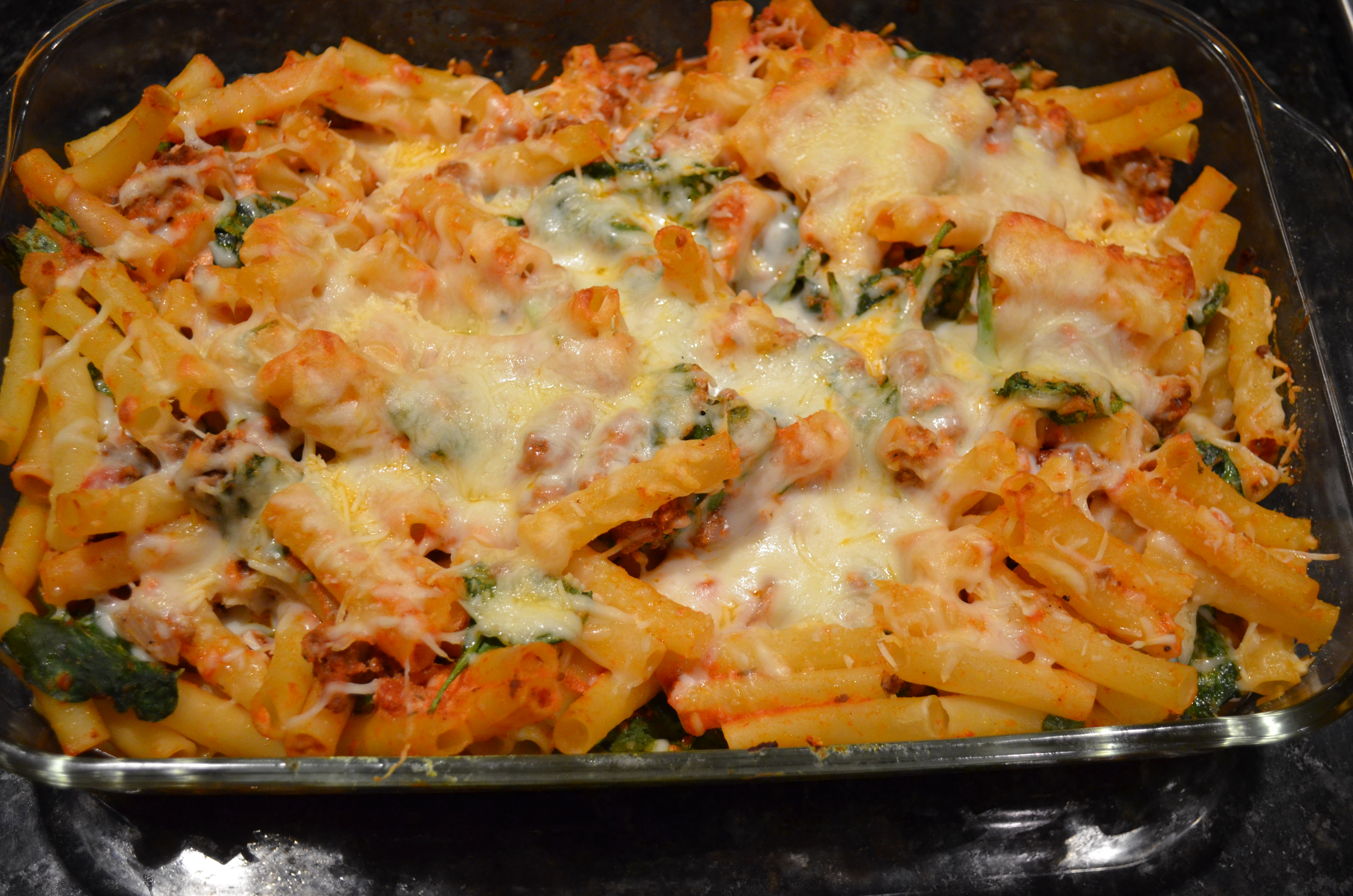 Lasagna Style Baked Ziti | I Sing In The Kitchen