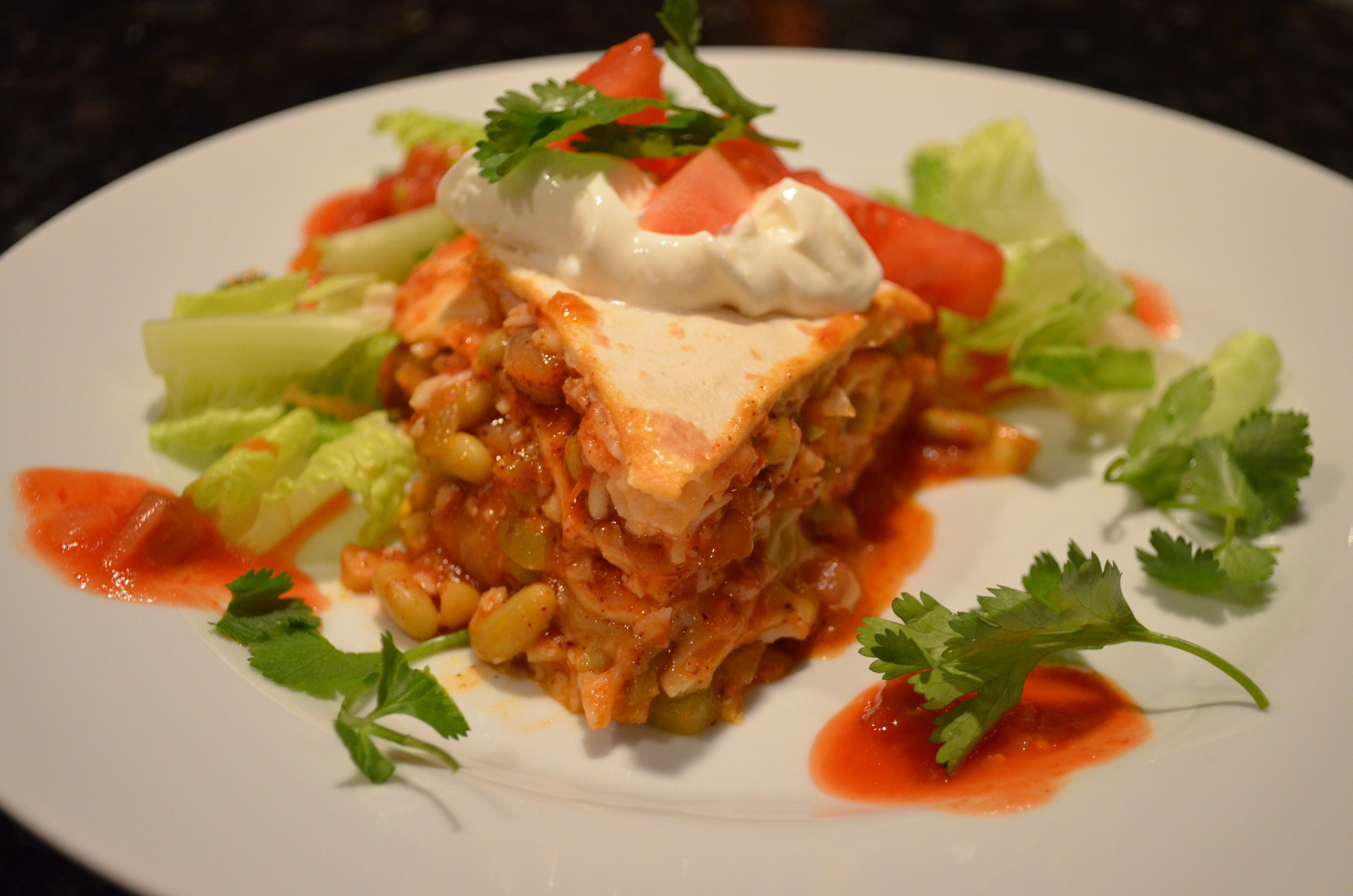 Tortilla Torte Recipe — Dishmaps