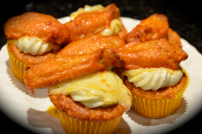 Image result for buffalo chicken cupcake