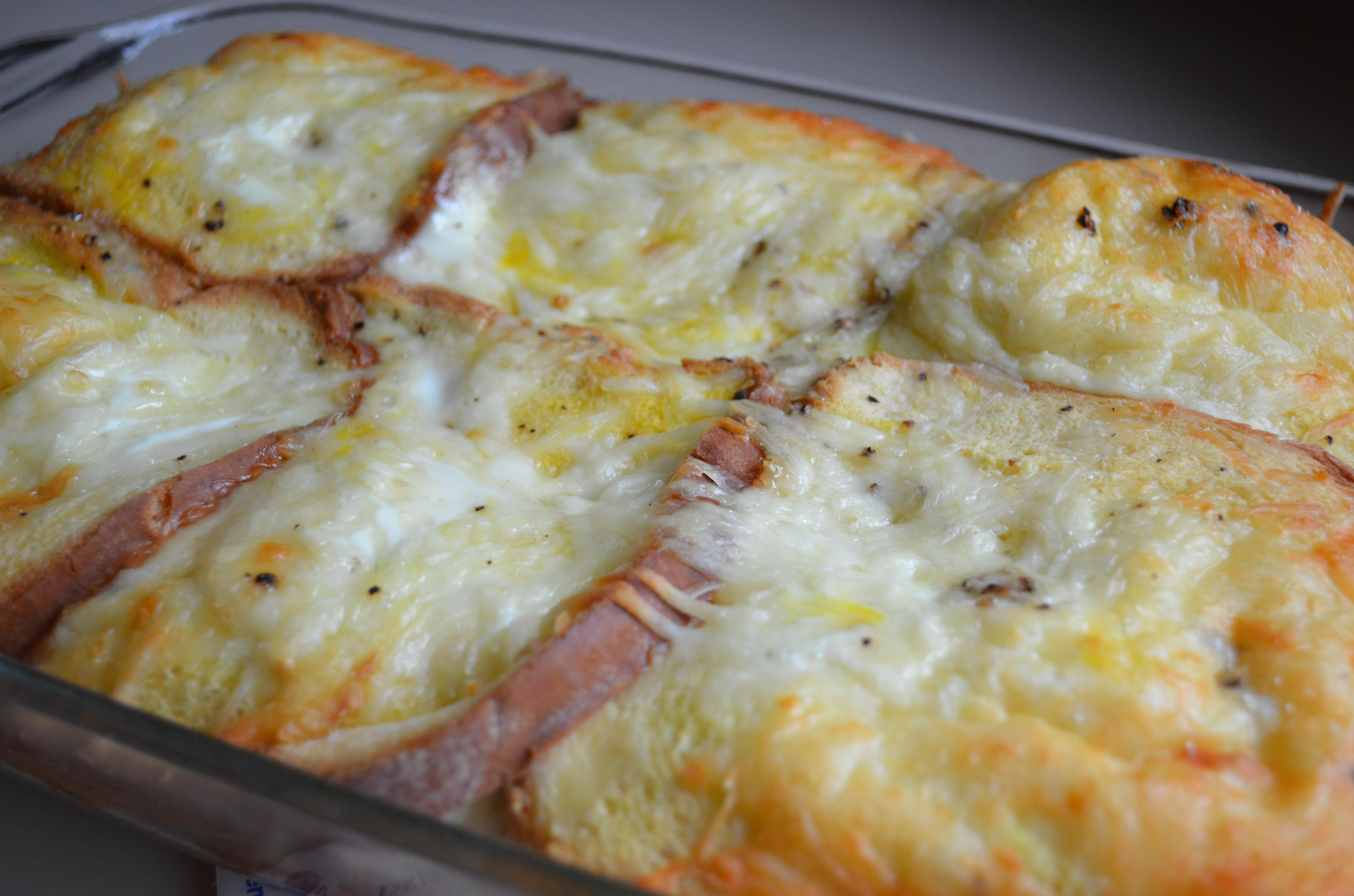 broccoli and cheese quiche - Cheese Egg Strata