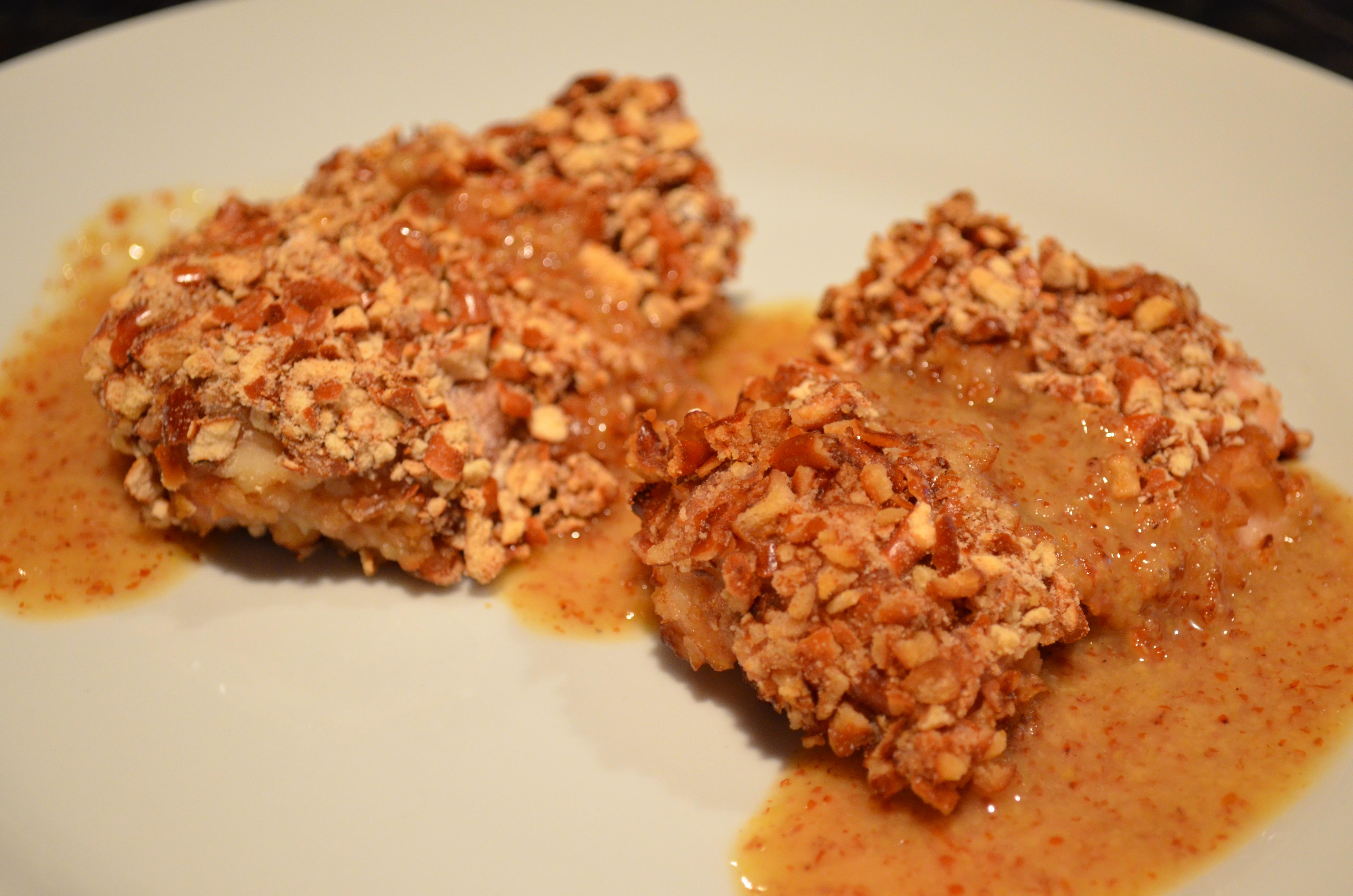 Crispy Pretzel Chicken With Honey-Mustard Sauce. Diving Into Some Deep ...