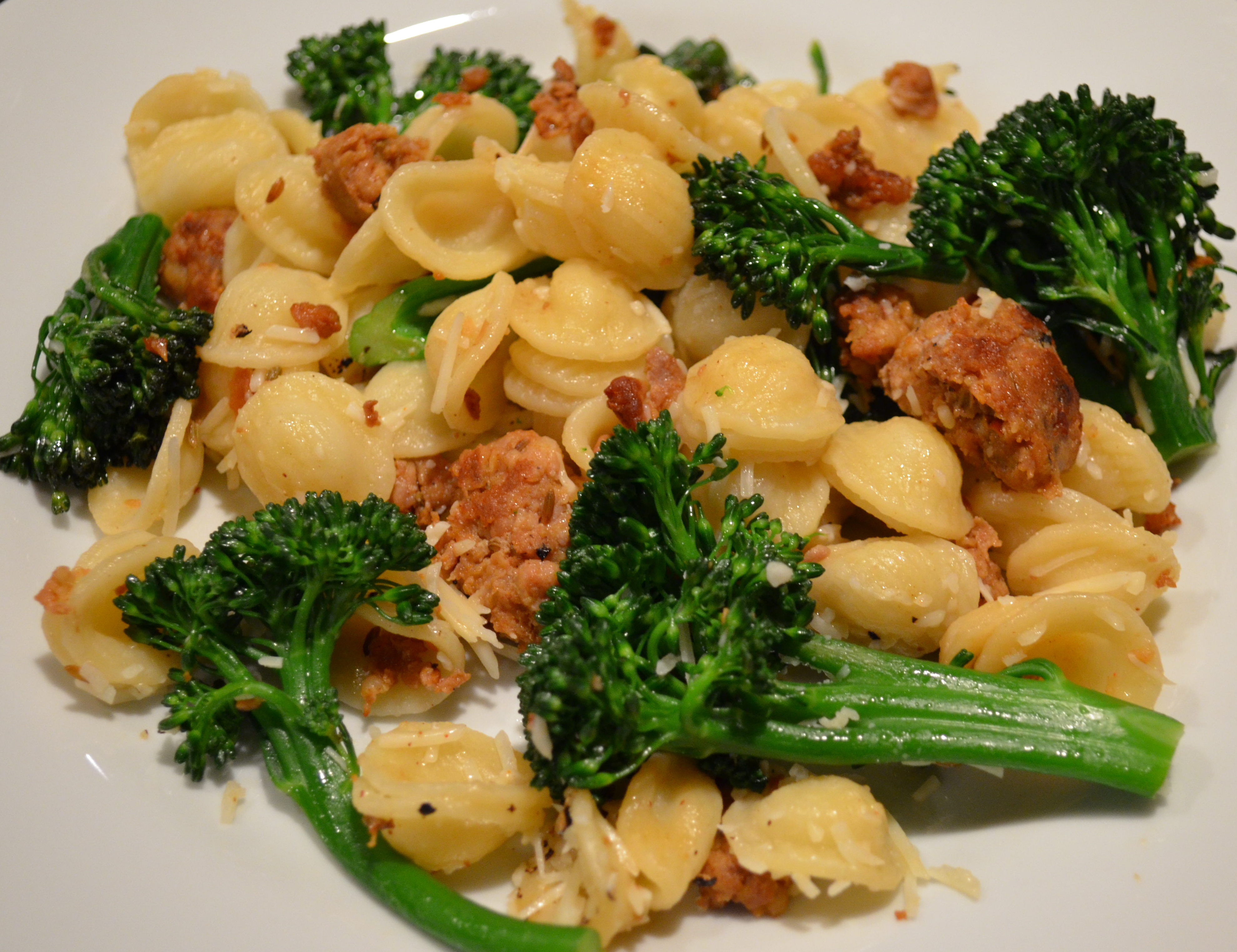 Orecchiette With Spicy Sausage and Broccoli Rabe ...