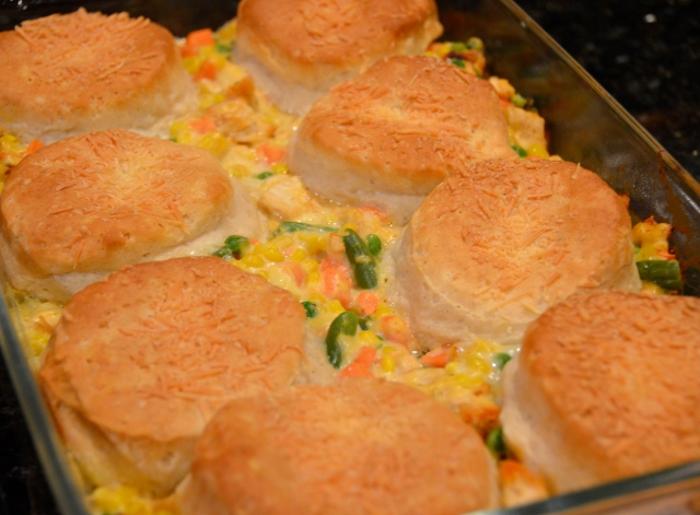 Parmesan Chicken and Biscuit Pie