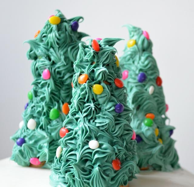 Christmas Cake With Christmas Trees