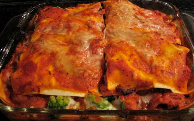 Broccoli And Three Cheese Lasagna