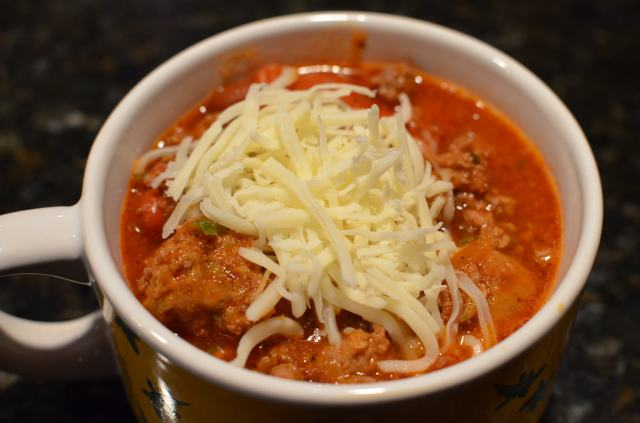 Pepperoni Pizza Chili