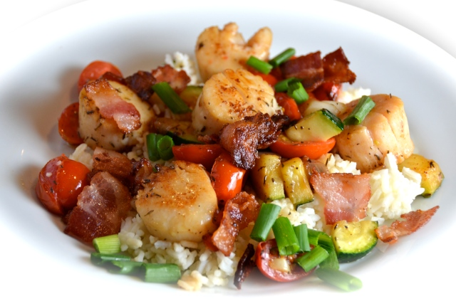 Unwrapped Bacon Scallops