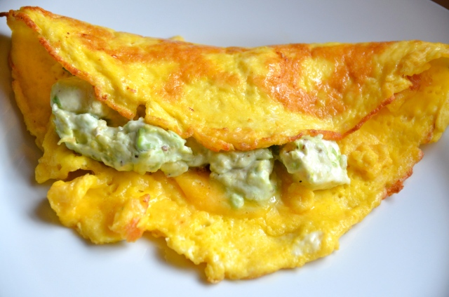 Avocado And Cheese Omelet