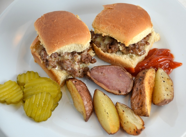 Slider-Style Mini Burgers With Baked Fries