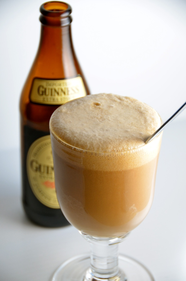 Guinness Float With Whiskey And Baileys Ice Cream