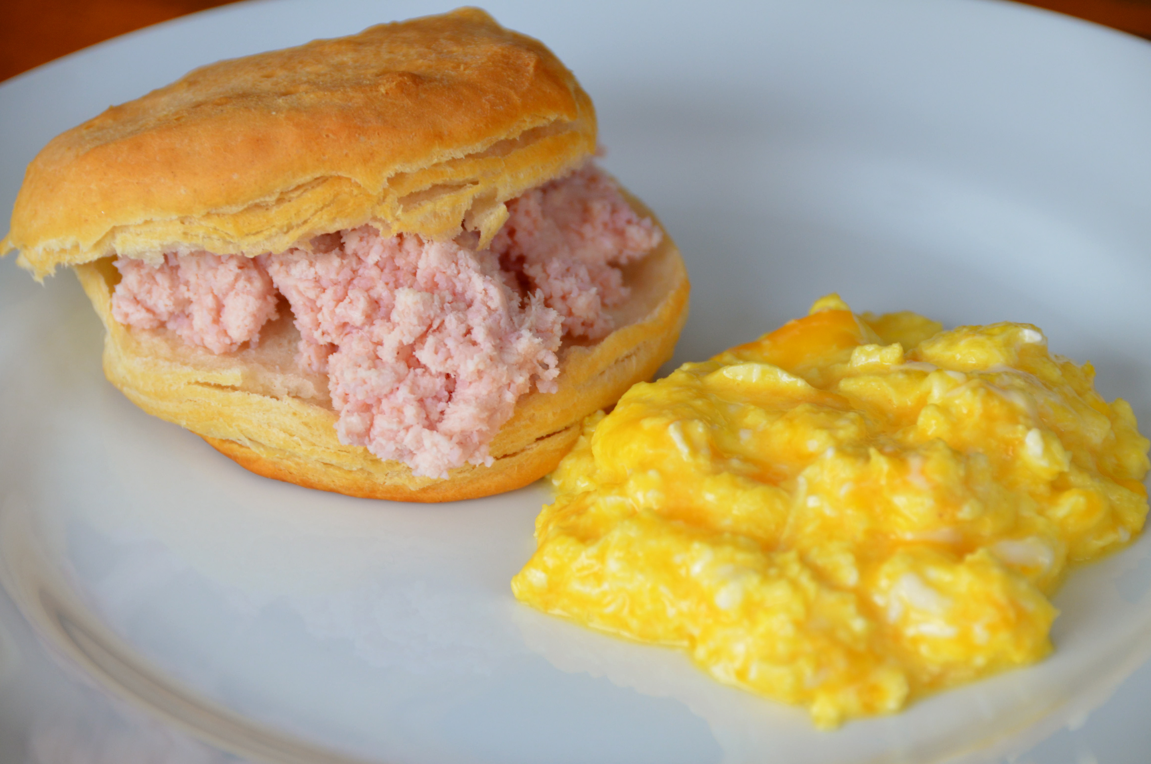 Perfect Scrambled Eggs. Biscuits With Ham Butter. Enamored With Echo ...