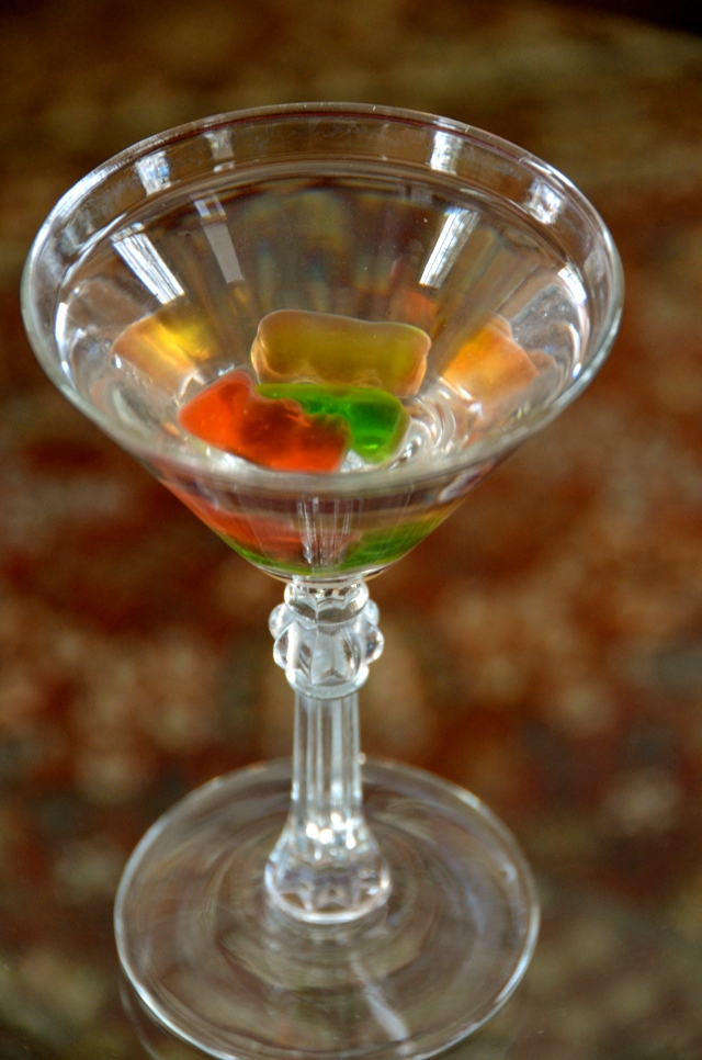 Drunken Gummy Bear Martini