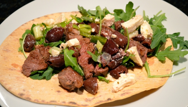 Lamb, Green Onion, Feta & Kalamata Olive Wraps