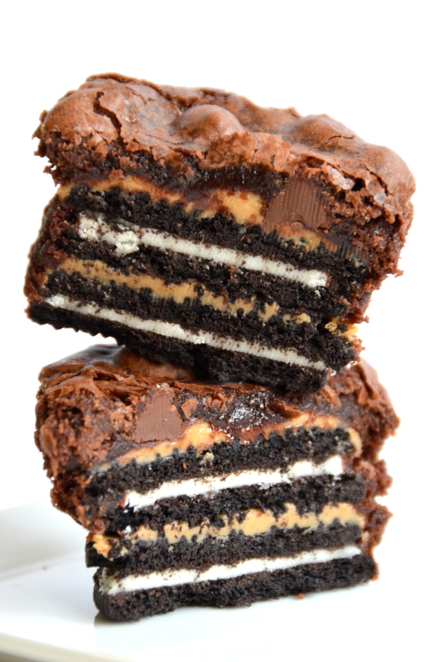 Insane Oreo Peanut Butter Brownie Cupcakes The Insanely