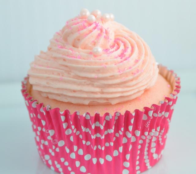 Pink Champagne Cupcake