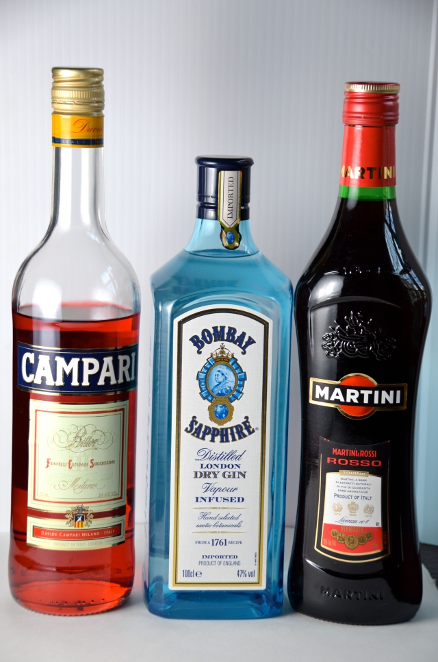 Ingredients for a Negroni