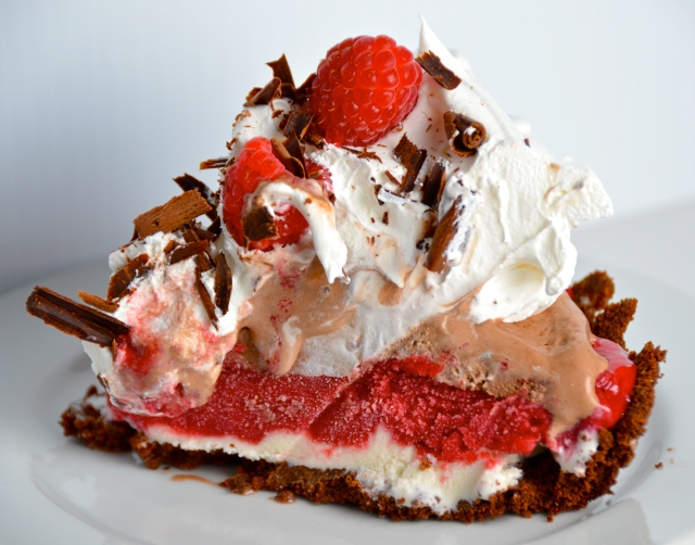 Chocolate Raspberry Ice Cream Pie