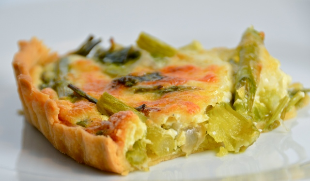 Asparagus And Spring Onion Tart