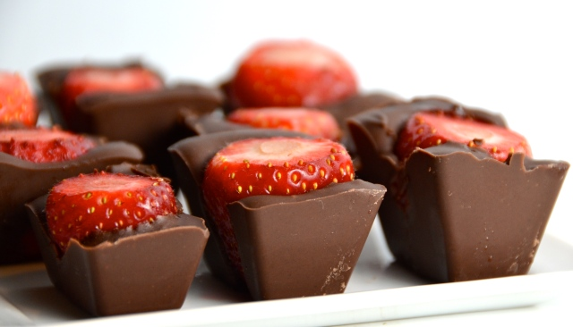 Ice Tray Chocolate Covered Strawberries