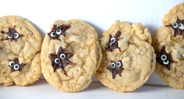 Spider Chocolate Chip Cookies