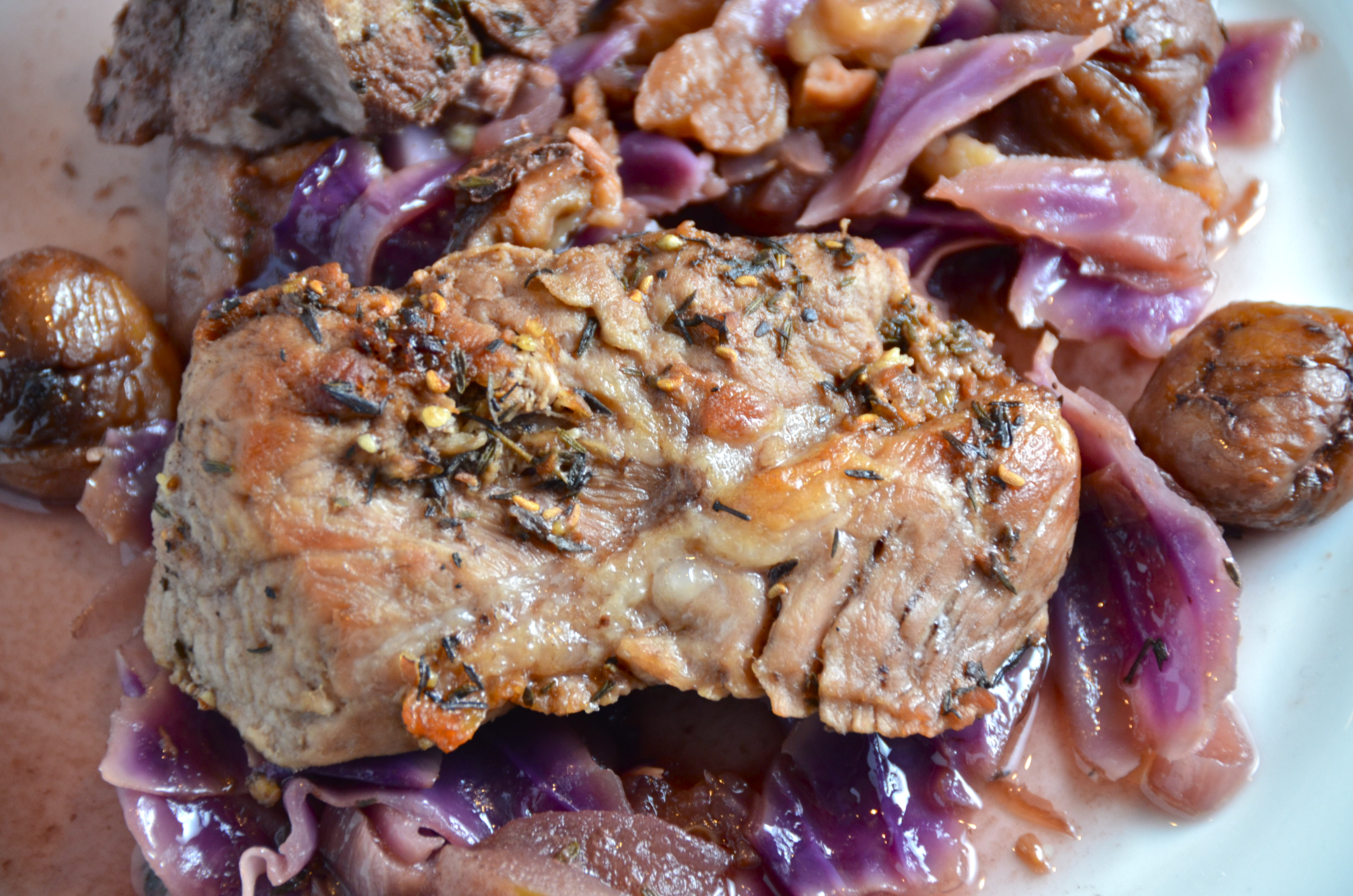 Slow Oven Cooked Pork, Chestnuts And Red Cabbage | I Sing ...