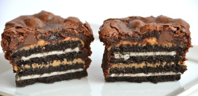 Insane Oreo Peanut Butter Brownies
