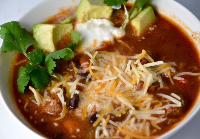 Slow Cooker Beef Fajita Soup