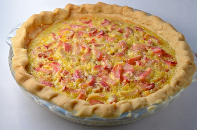 Rhubarb Custard Pie