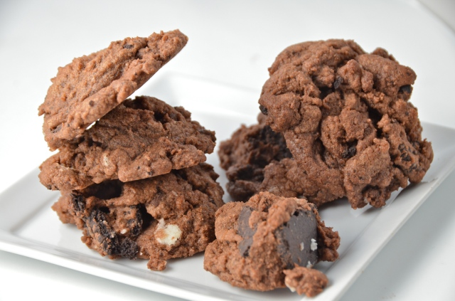 Quadruple Chocolate Chunk Cookies