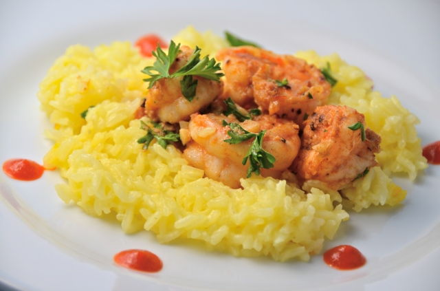 The Simplest & Best Shrimp With Saffron Rice