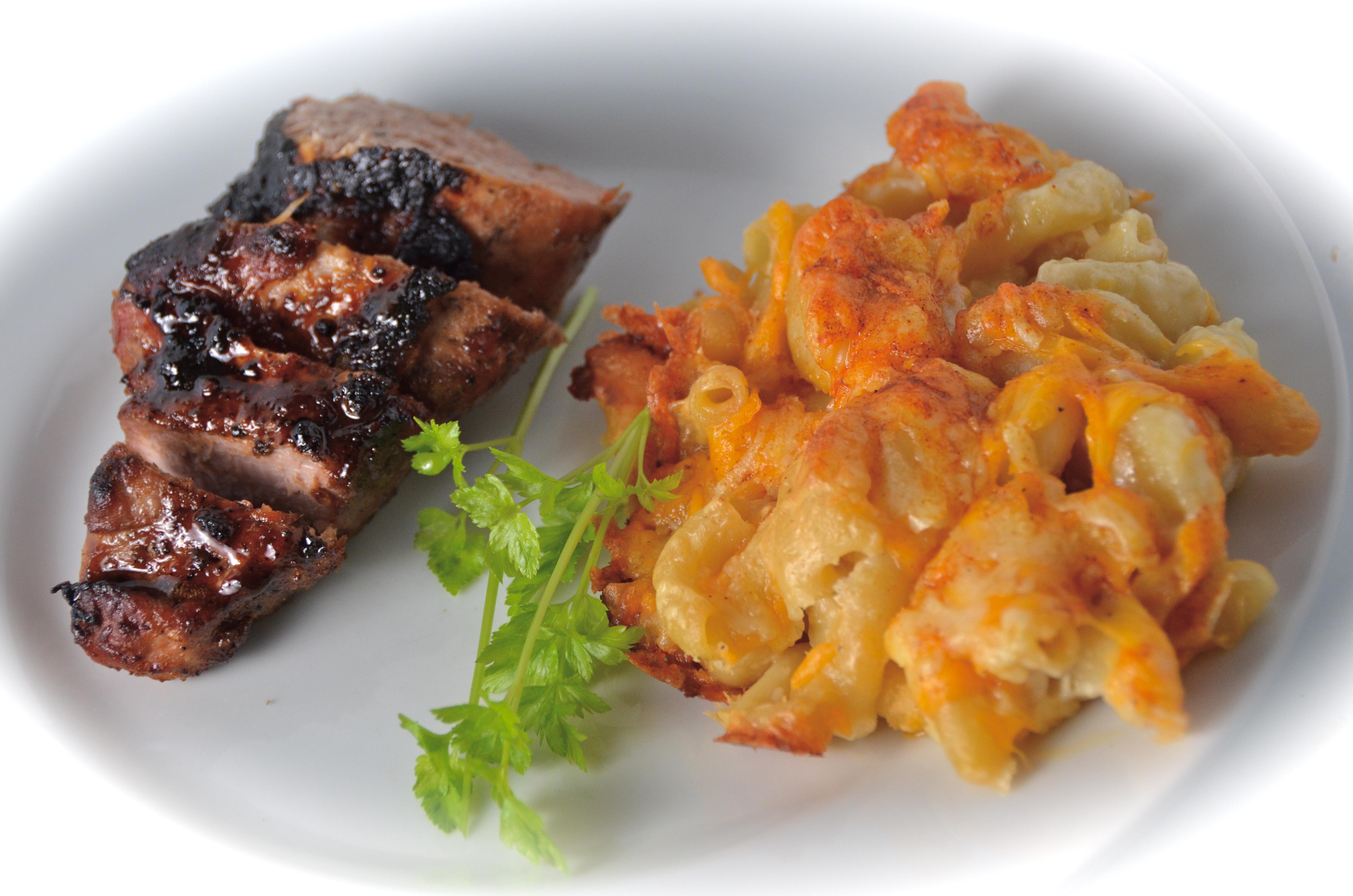 Honey Butter Pork Tenderloin With Homey Mac & Cheese | I Sing In The ...