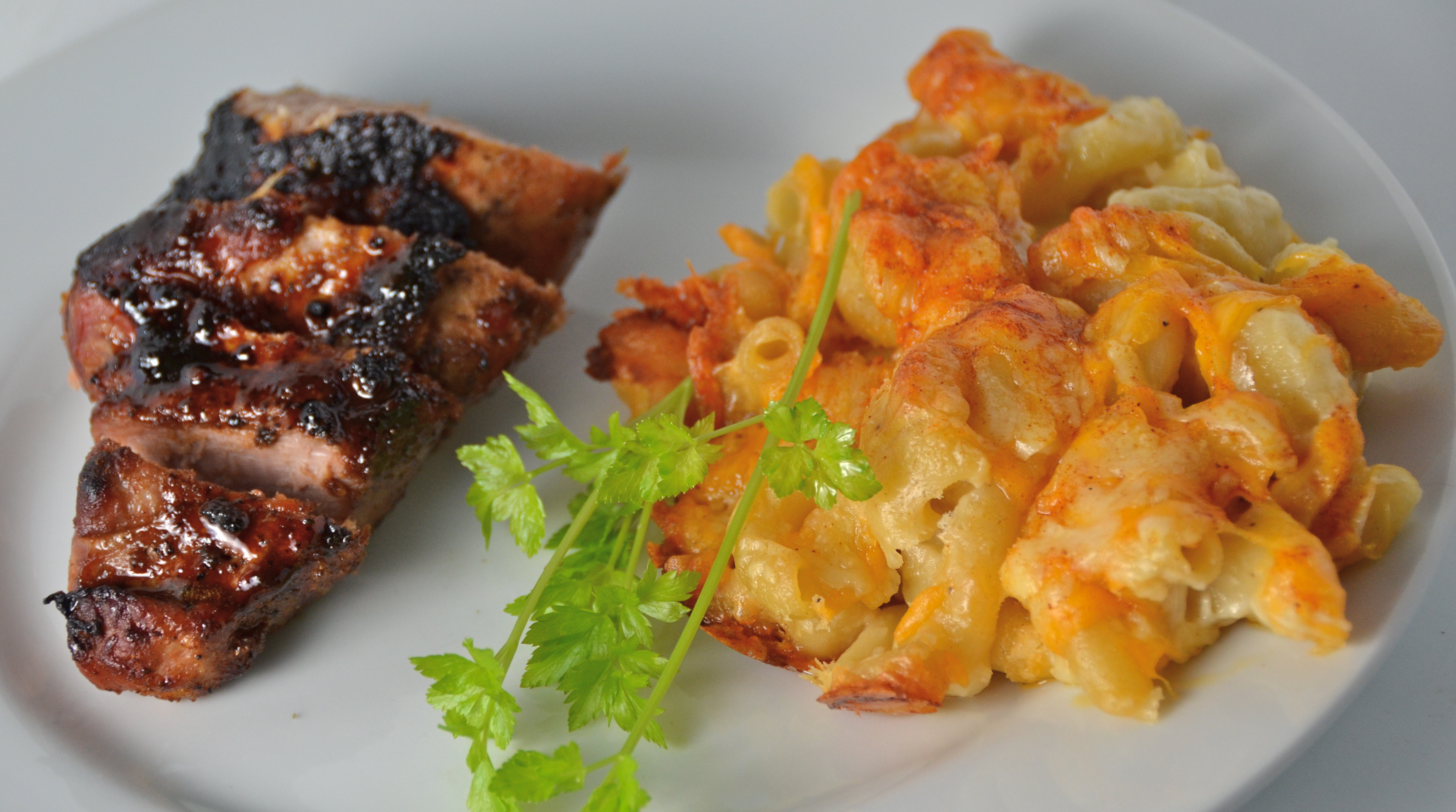 Honey Butter Pork Tenderloin With Homey Mac & Cheese   I ...