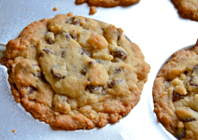 Monster Deep Dish Chocolate Chip Caramel Cookies