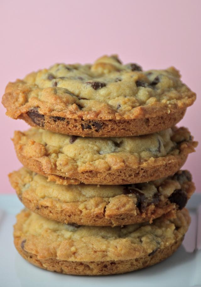 Monster Deep Dish Chocolate Chip Caramel Cookies