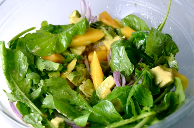 Mango, Avocado And Arugula Salad