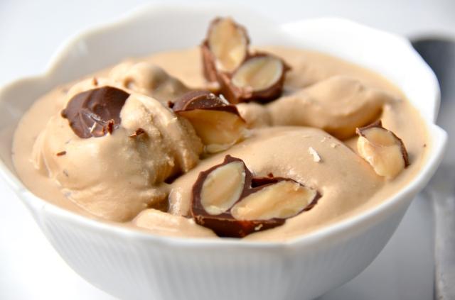 Coffee Ice Cream With Marcona Almonds