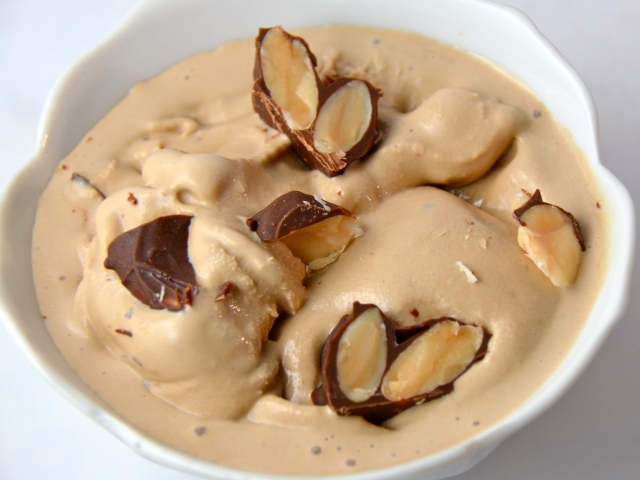 Coffee Ice Cream With Marcona Almonds