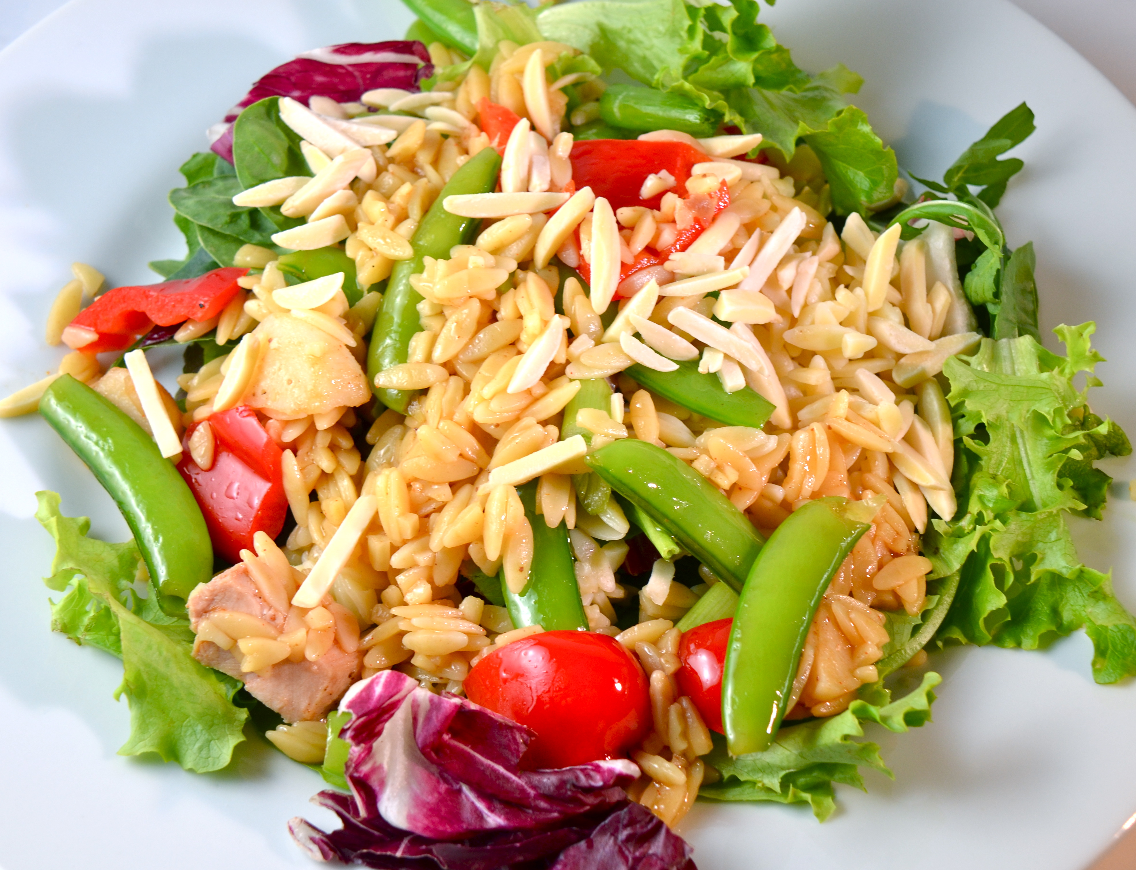 Asian Chicken And Orzo Salad | I Sing In The Kitchen