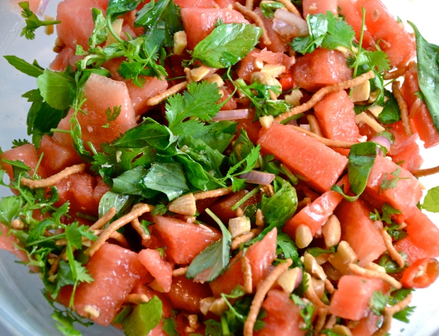 Asian Watermelon Salad