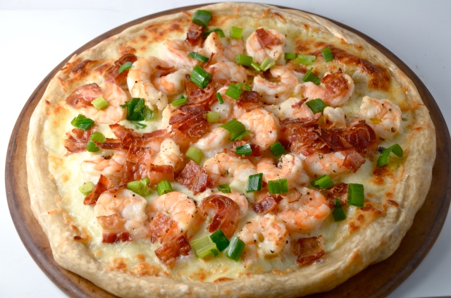 Shrimp And Bacon Pizza