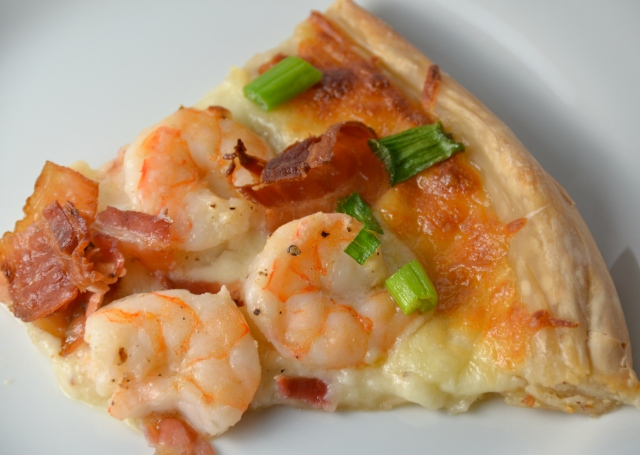 Shrimp And Bacon Pizza