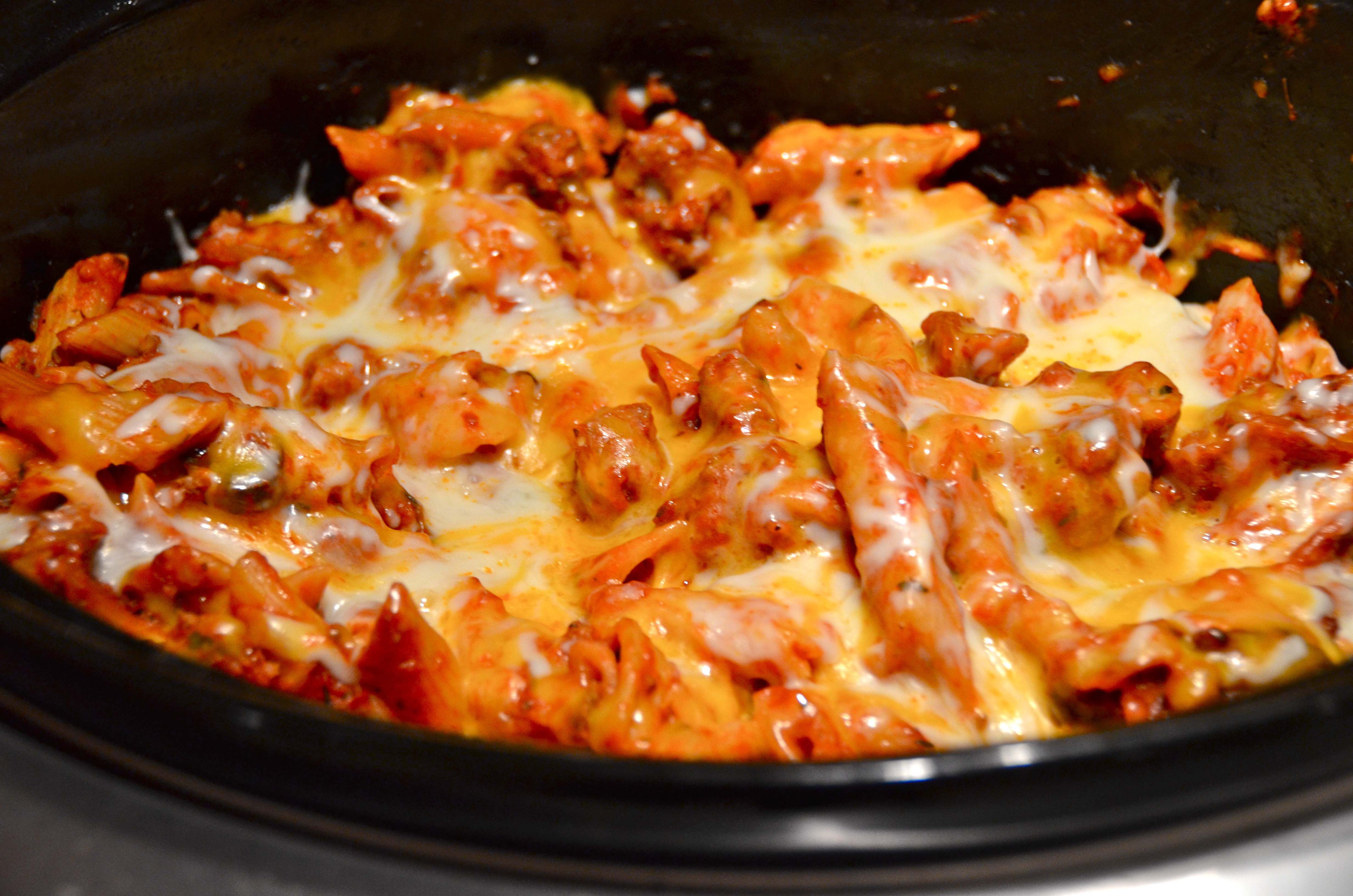 Slow Cooker Meat-Lover's Pizza Pasta Hot Dish. Hot New Music From ...