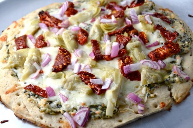 Artichoke And Spinach Dip Pizza