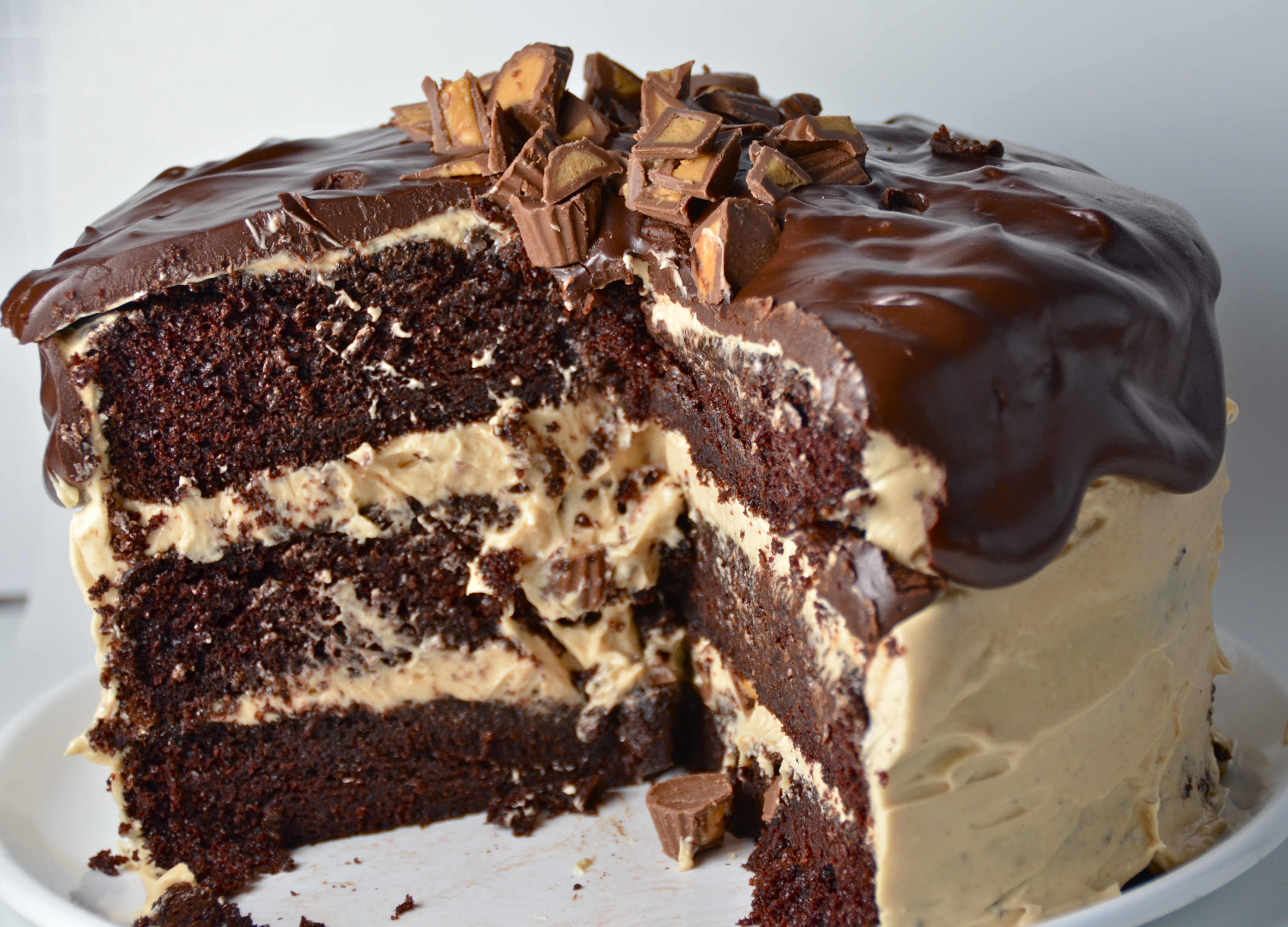 Chocolate Peanut Butter Cup Overload Cake. Cool New Music From Alt-J ...