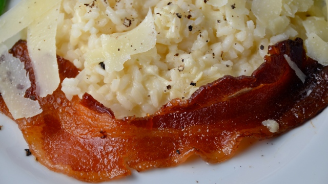 Risotto With Maple Glazed Bacon
