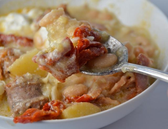 Polenta Chili With Italian Sausage