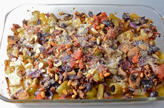 Baked Rigatoni With Sautéed Vegetables